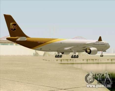 Airbus A330-300P2F UPS Airlines für GTA San Andreas Unteransicht