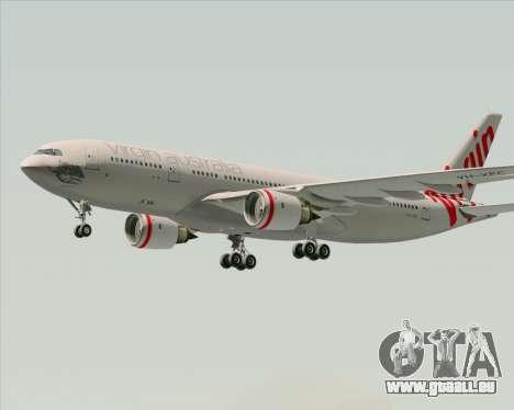 Airbus A330-200 Virgin Australia pour GTA San Andreas vue intérieure