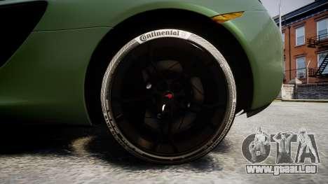 McLaren 650S Spider 2014 [EPM] Continental pour GTA 4 Vue arrière