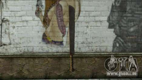 Machete from Assassins Creed 4: Freedom Cry pour GTA San Andreas deuxième écran