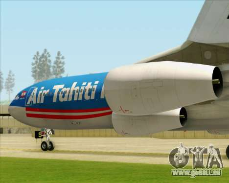 Airbus A340-313 Air Tahiti Nui für GTA San Andreas Räder