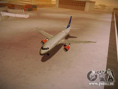 Airbus A319-132 Scandinavian Airlines für GTA San Andreas Räder