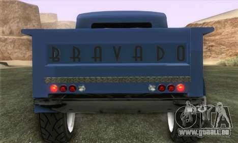Bravado Duneloader Classic 1.0 (IVF) pour GTA San Andreas sur la vue arrière gauche