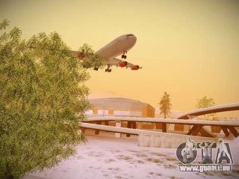 Airbus A340-300 Scandinavian Airlines pour GTA San Andreas vue intérieure
