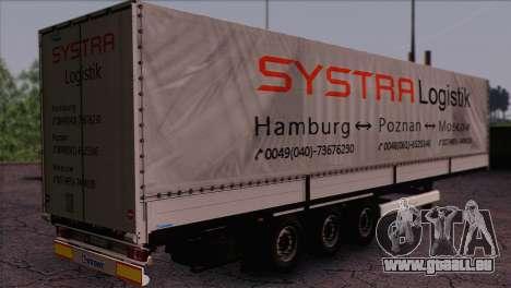 Krone SPD27 Systra Logistik für GTA San Andreas linke Ansicht