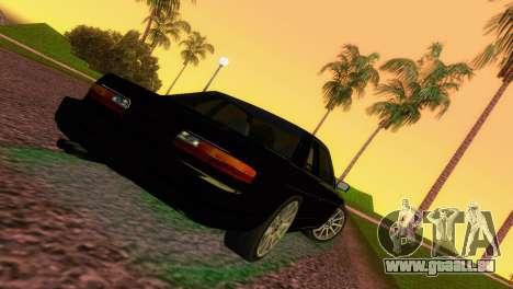 Nissan Silvia S13 RB26DETT Black Revel pour GTA Vice City sur la vue arrière gauche