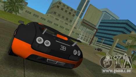 Bugatti Veyron Super Sport pour GTA Vice City sur la vue arrière gauche