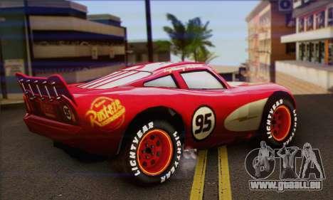 Lightning McQueen Radiator Springs für GTA San Andreas linke Ansicht