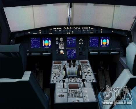Airbus A340-313 Swiss International Airlines pour GTA San Andreas vue de dessous