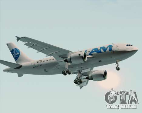 Airbus A310-324 Pan American World Airways für GTA San Andreas zurück linke Ansicht