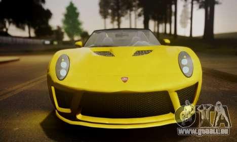 Voltic from GTA 5 (IVF) pour GTA San Andreas sur la vue arrière gauche