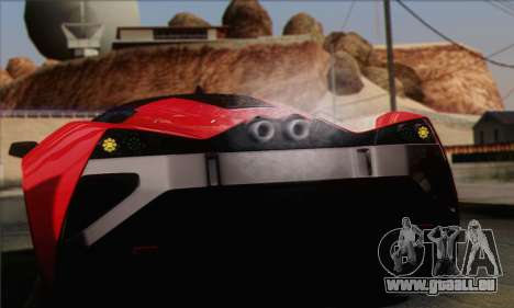 Marussia B2 für GTA San Andreas Innenansicht