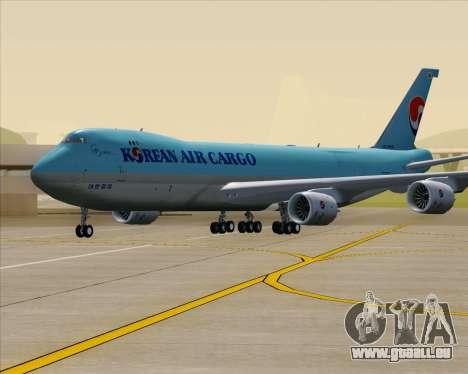 Boeing 747-8 Cargo Korean Air Cargo für GTA San Andreas obere Ansicht