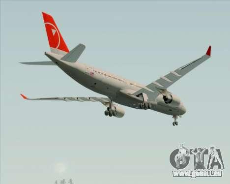 Airbus A330-300 Northwest Airlines für GTA San Andreas obere Ansicht