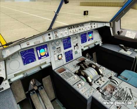 Airbus A340-313 Air Tahiti Nui für GTA San Andreas Unteransicht