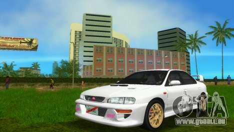 Subaru Impreza WRX STI GC8 Sedan Type 3 pour GTA Vice City sur la vue arrière gauche