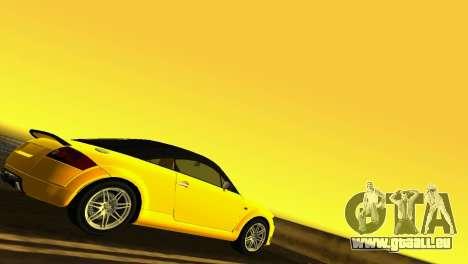 Audi TT Coupe BiMotor Black Revel pour une vue GTA Vice City de la droite