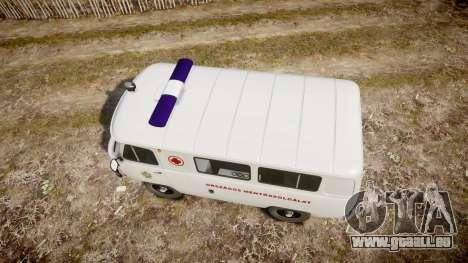 UAZ-39629 ambulance Hongrie pour GTA 4 est un droit