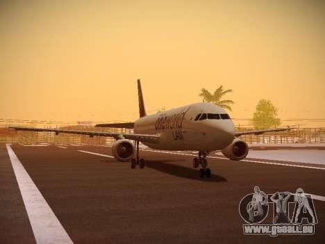 Airbus A320-214 LAN Oneworld pour GTA San Andreas laissé vue