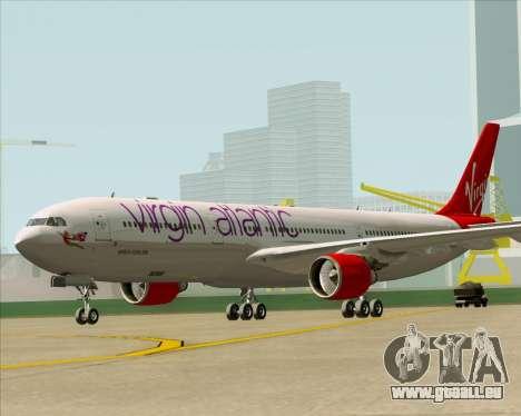 Airbus A330-300 Virgin Atlantic Airways pour GTA San Andreas sur la vue arrière gauche