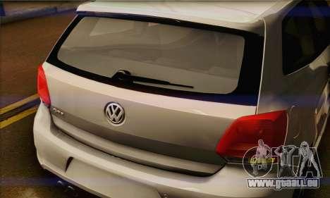 Volkswagen Polo GTi 2011 pour GTA San Andreas vue arrière