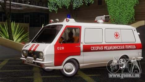 RAF 22031 Lettland - Krankenwagen für GTA San Andreas