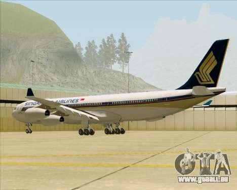 Airbus A340-313 Singapore Airlines für GTA San Andreas rechten Ansicht