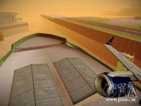 Embraer E190 Azul Tudo Azul pour GTA San Andreas vue de dessous