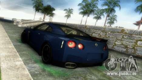 Nissan GT-R SpecV Black Revel pour une vue GTA Vice City de la droite