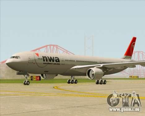 Airbus A330-300 Northwest Airlines pour GTA San Andreas sur la vue arrière gauche