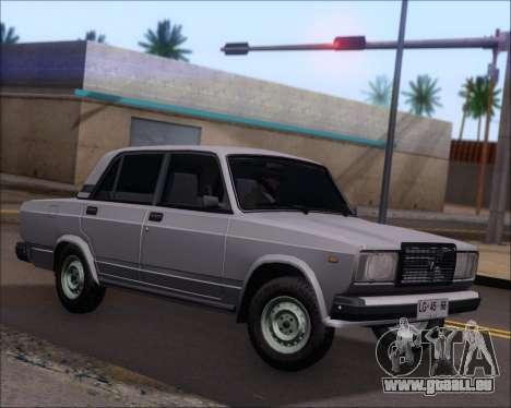 LADA 2107 pour GTA San Andreas laissé vue