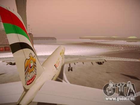 Airbus A340-600 Etihad Airways für GTA San Andreas Räder