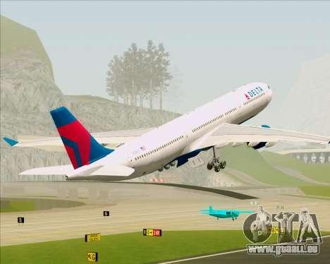 Airbus A330-300 Delta Airlines für GTA San Andreas Innen