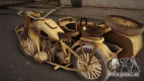 BMW R75 Desert from Forgotten Hope 2 pour GTA San Andreas laissé vue