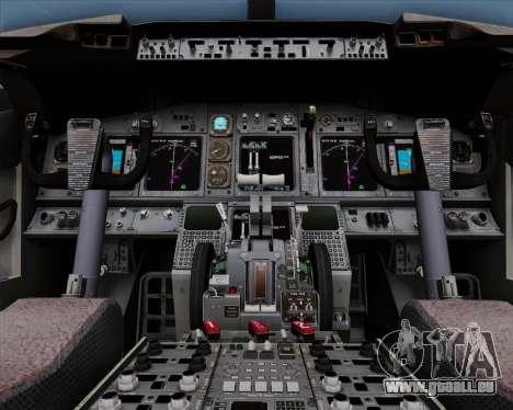 Boeing 737-86N Garuda Indonesia pour GTA San Andreas vue de dessus