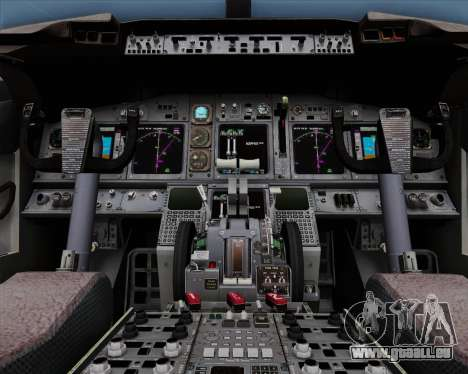 Boeing 737-86N Garuda Indonesia für GTA San Andreas obere Ansicht