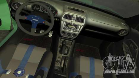 Subaru Impreza WRX 2002 Type 3 pour GTA Vice City vue latérale
