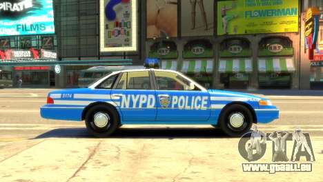 Ford Crown Victoria 1994 NYPD pour GTA 4 est une gauche