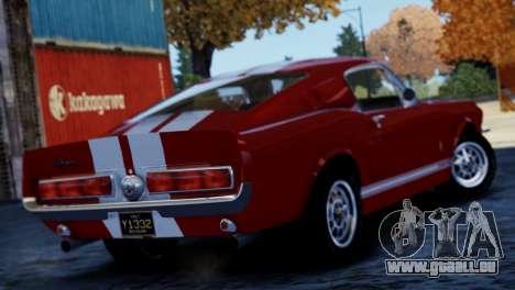 Shelby Cobra GT500 1967 pour GTA 4 est un droit