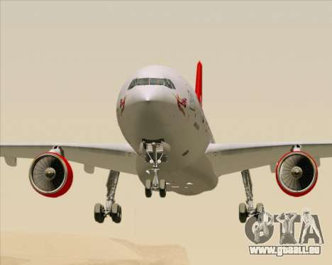 Airbus A330-300 Virgin Atlantic Airways für GTA San Andreas obere Ansicht