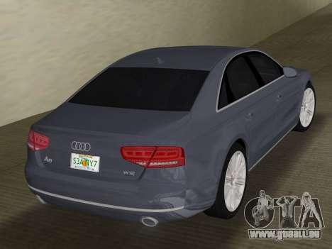 Audi A8 2010 W12 Rim1 pour une vue GTA Vice City de la droite