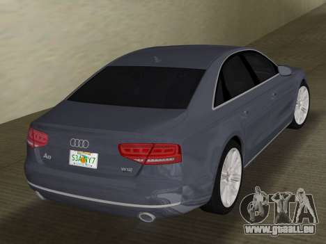 Audi A8 2010 W12 Rim1 für GTA Vice City rechten Ansicht
