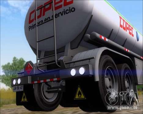 Trailer tank Carro Copec für GTA San Andreas Rückansicht