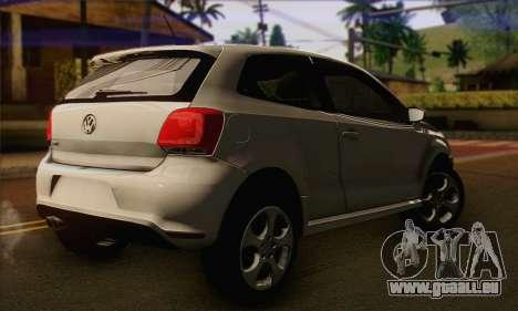 Volkswagen Polo GTi 2011 pour GTA San Andreas laissé vue