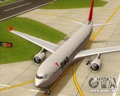Airbus A330-300 Northwest Airlines für GTA San Andreas Seitenansicht