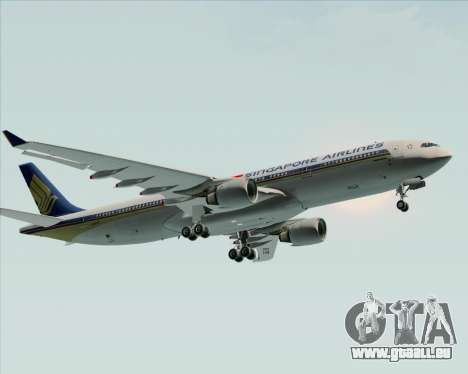 Airbus A330-300 Singapore Airlines für GTA San Andreas Innenansicht