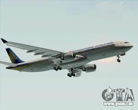 Airbus A330-300 Singapore Airlines für GTA San Andreas Innenansicht