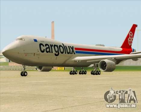 Boeing 747-8 Cargo Cargolux pour GTA San Andreas vue de côté
