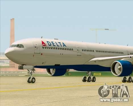 Airbus A330-300 Delta Airlines für GTA San Andreas Innenansicht