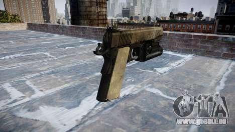 Gun Kimber 1911 Ein-Armee-fans das Leder AU für GTA 4 Sekunden Bildschirm